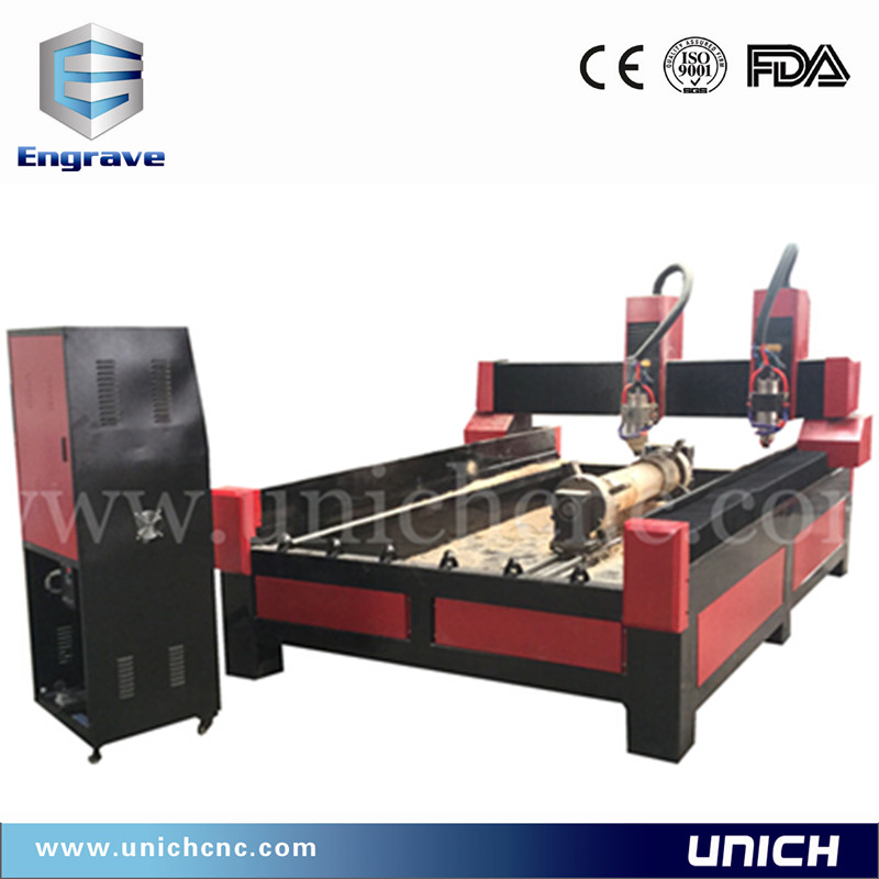 Merry Christmas! high technology double heads cnc stone marble granite carving machine 1325/cnc woodworking lathe
