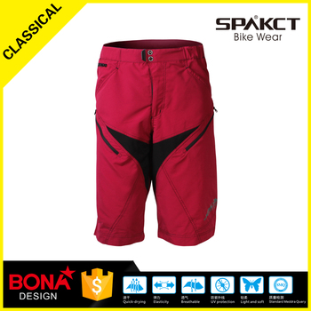 hot sale high performance loose design red 3/4 cycling pants