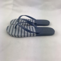 China cheap high quality EVA outsole edge insole stripes print logo beach flip-flops slippers brands for man