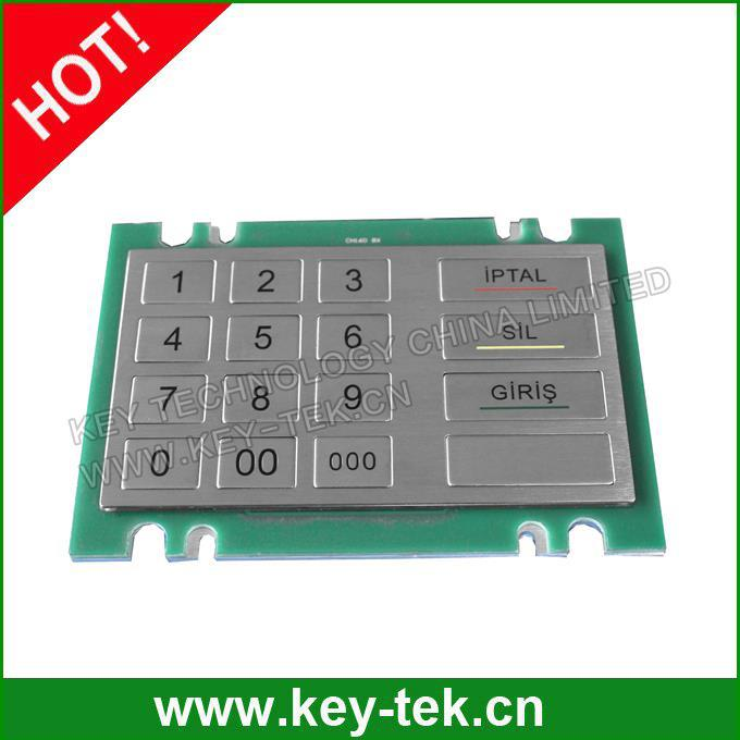 Stainless Steel Encryption Pinpad With Des Tdes