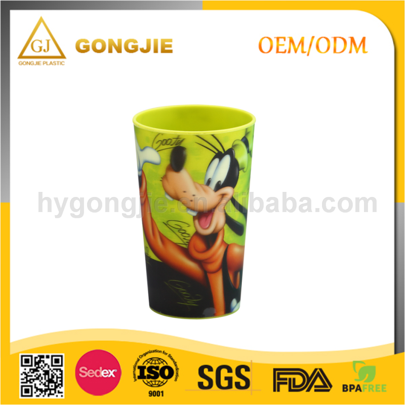 Taizhou Gongjie PP Wholesale Promotion plastic disposable cartoon Pearl milk tea cup