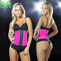 latex rubber 9 steel bone 3 hooks sculpting clothes spandex corset waist shapewear cincher trainer women slimming body shaper