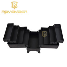 Beautiful Rolling Makeup Train Case Tiered Extending Trays With Wheels cosmetic raw material