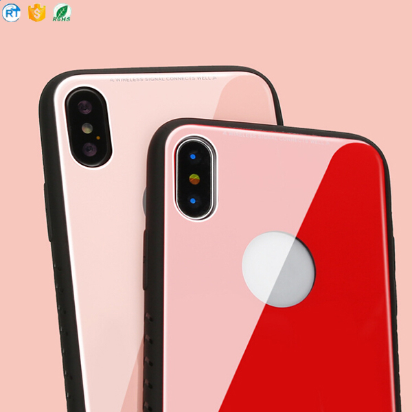 2018 new manufacture tempered glass case phone cover for iphone X