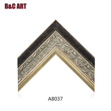 Distressed Carved Wood Picture Frame Classical Painting Frame for Luxury Home Decoration