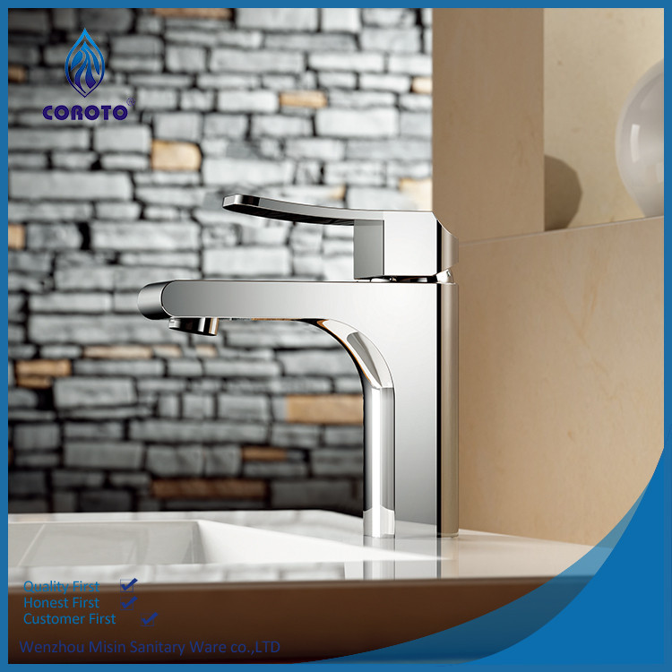 Waterproof chrome bathroom faucets and fixtures