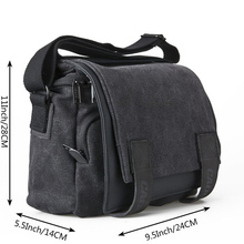 High Quality Men's Crossbody Bag Durable Canvas Material Vintage Style Dslr Camera Bag