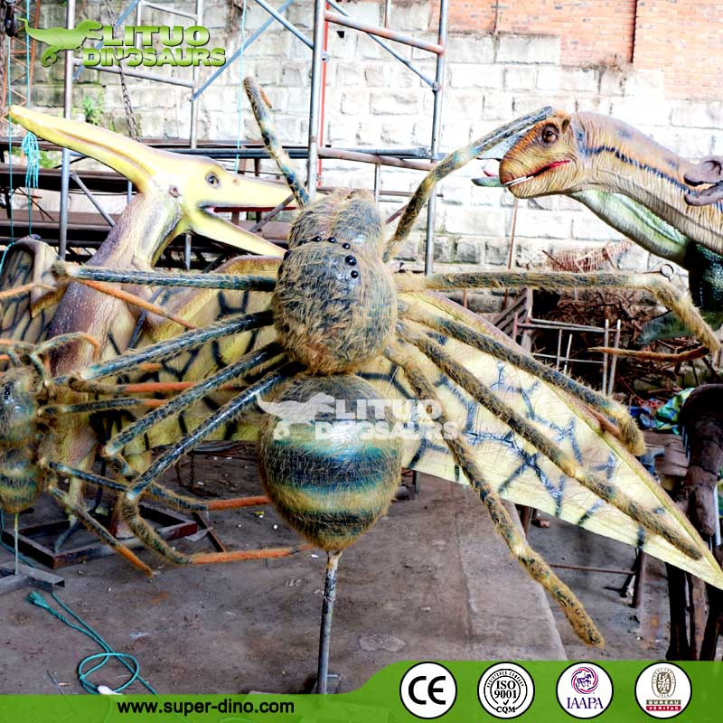 High Simulation Mechinical Insect Model Spider with Fur