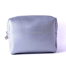 Custom PU leather women cosmetic bag logo brand available