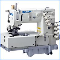 1508P Industrial Double Chain Stitch Machine With Horizontal Looper Movement Mechanism Strobel Protexi Interlock Sewing Machine