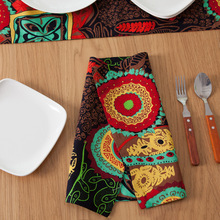 IMF Double Side Sunflower Printed Placemat for Restaurant and Home