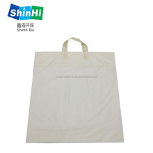 wholesale printed reusable biodegradable plastic cloth t-shirt grocery bags