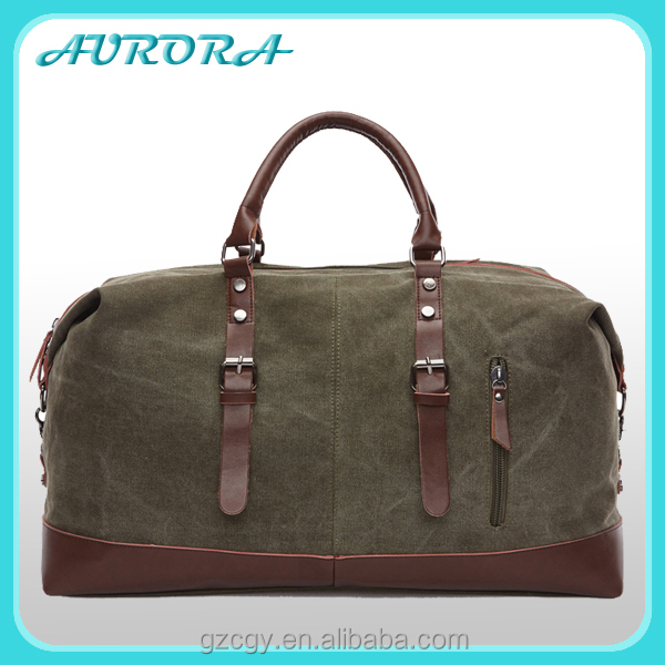 Outdoor travel army green duffle bag