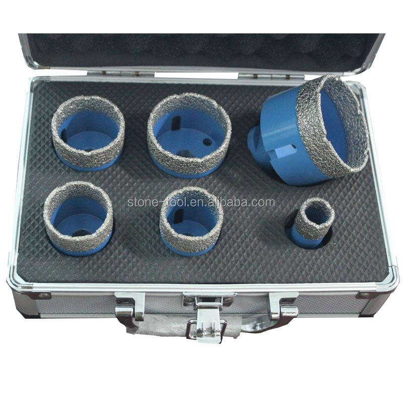 Diamond Brazed Core Drill Bits Set