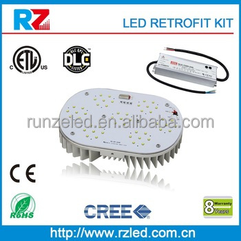 ETL cETL listed shoebox light/ led shoe box lighting retrofit, blue 150w led retrofit kit
