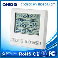 CCXK0001 Blue backlight lcd screen electrical symbols thermostat