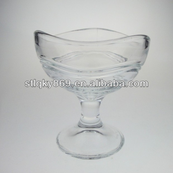 machine pressed crystal ice cream bowl glass dessert bowl