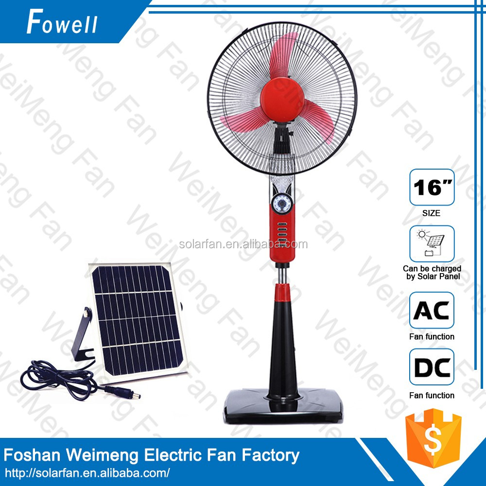 plastic stand fan stand fan with remote control solar power machines high quality stand fan with LED light