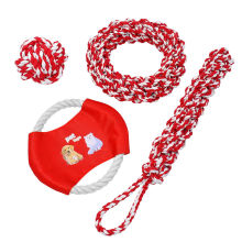 New Large Dog Toys Indestructible Pet Dog Chew Toys Ball Fun Rope 4pcs Fetch Toy Set AD553