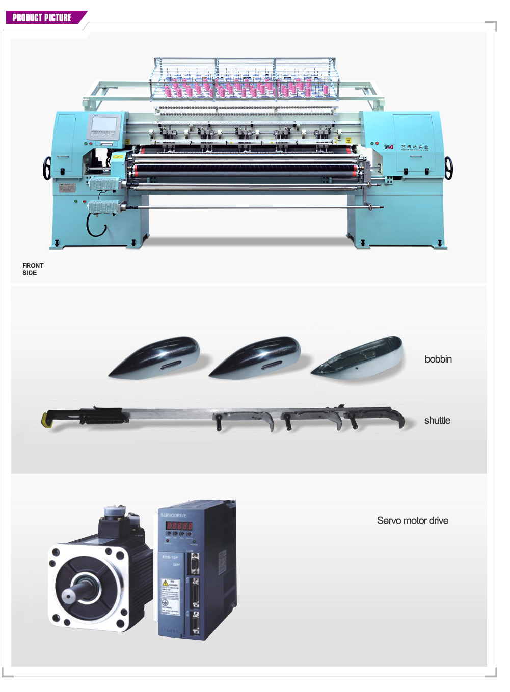 YBD 643 High Quality Multi-needle automatic quilting machine Automatic disconnection stop function