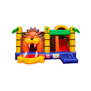 lion kingdom inflatable combo bouncy, jump house inflatable bounce castle,commercial slide inflatable bounce house for sale