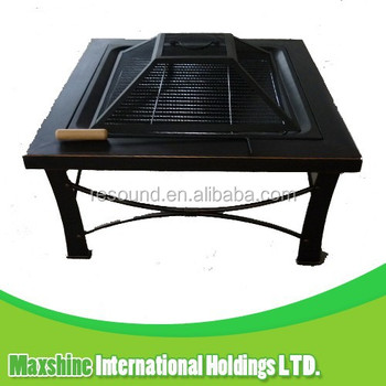 outdoor used metal square fire pit