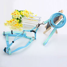 New pet products retractable fashion design factory wholesale nylon rope small dog harness and leash