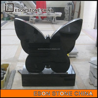 eson stone 52 butterfly granite tombstone ,cheap headstones for sale