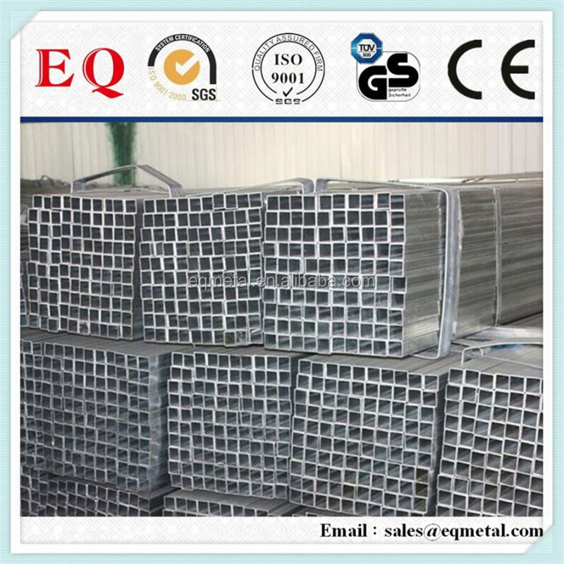 Galvanized rectangular pipe tube galvanized square steel tube erw galvanized square tubing