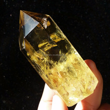 100% natural quartz crystal wand point citrine for healing stone