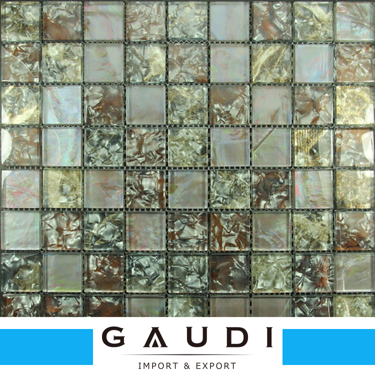 Hot selling bathroom,kitchen,bedroom used mixed colour glass mosaic