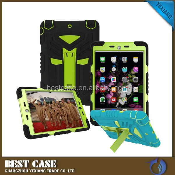 High quality robot back stand case cover for ipad air 1 2 in 1 tpu + pc cell phone case