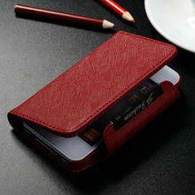 New 2013 best price high quality genuine leather wallet belt clip leather case for iphone 4