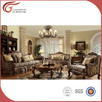 antique style high quality oak wood sofa design