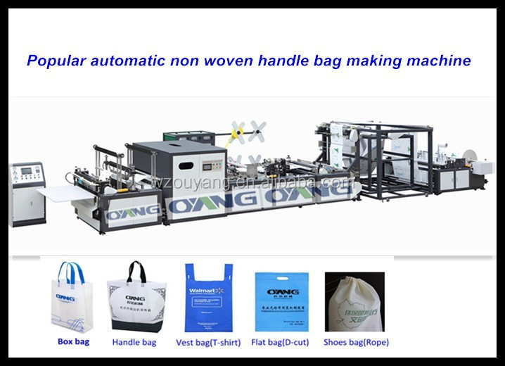 Ultrasonics computer touch automatic non woven bag making/manufacturing machine