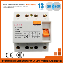China manufacturers supply electronic type rccb,4pole 32A residual current circuit breaker low price
