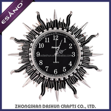 Promotional sun shaped decorative resin wall clock