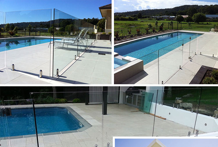 Glass Railing For Swimming Pool Removable Pool Safety Fenceglass