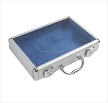 Custom Aluminum Waterproof watch Box transparent