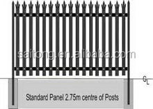 Low price best sell steel playground palisade fence