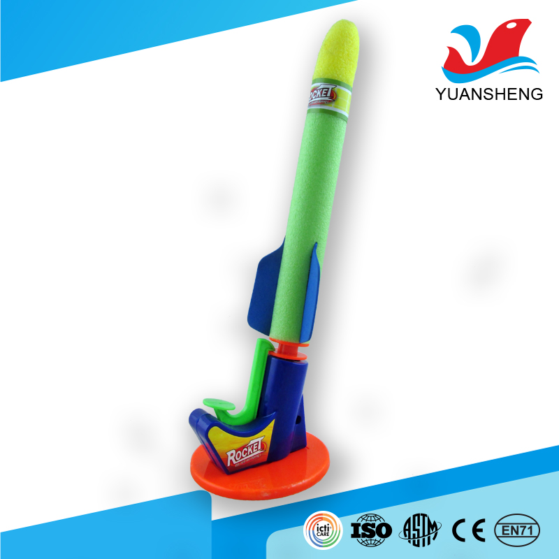 hot sale 2017 kids outdoor sports EVA soft toy foam rocket with low price