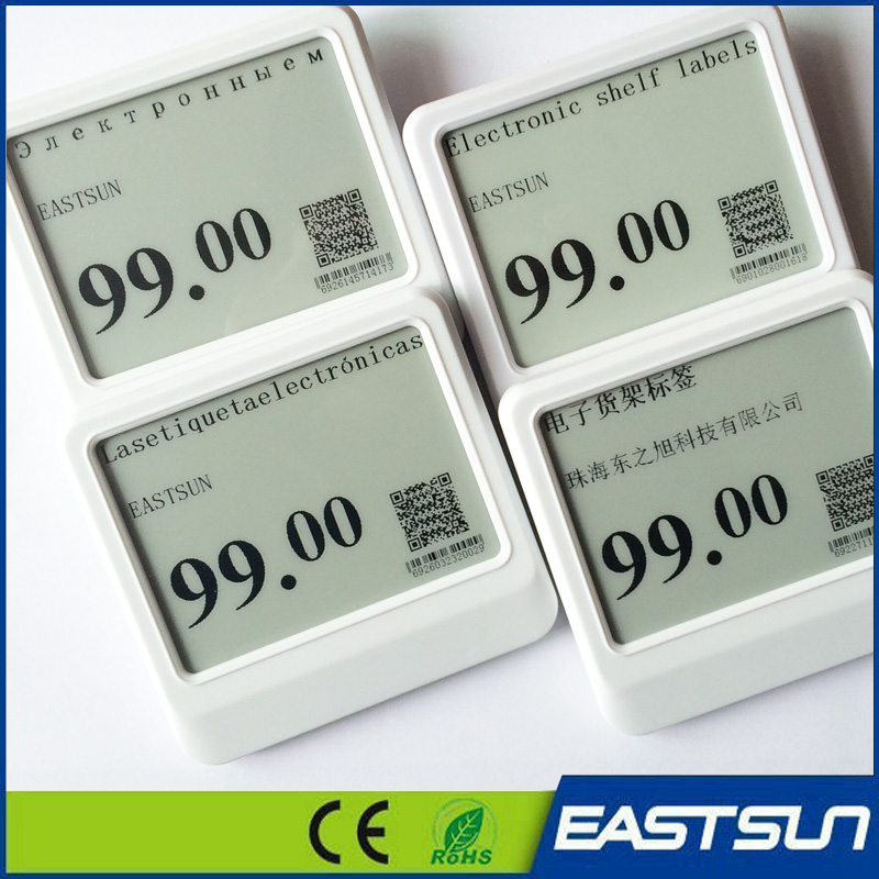 Wireless Electronic Shelf Label e-paper price display Epd Lcd