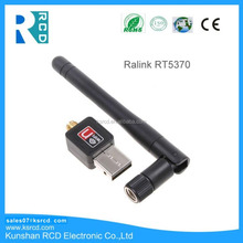 802.11n/g/b 150Mbps Ralink RT5370 Mini USB WiFi Wireless Adapter Network LAN Card with External Antenna