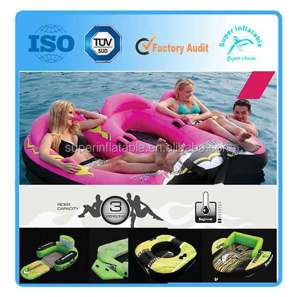 Inflatable water ski tube for young riders Towable ski tube