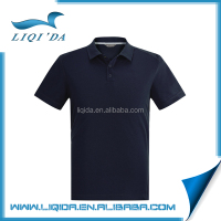 Cheap men summer cotton polo blank black sublimation t-shirt wholesale
