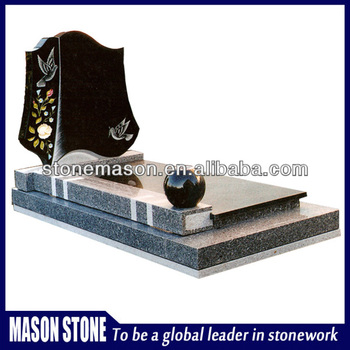 High quality granite headstones for graves with producer price