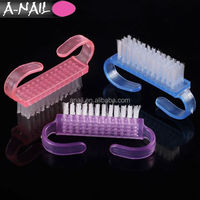 Mini Cute Style Nail Arts Manicure Pedicure Tools Small Size Pink Plastic Nail Dust Cleaning Brush