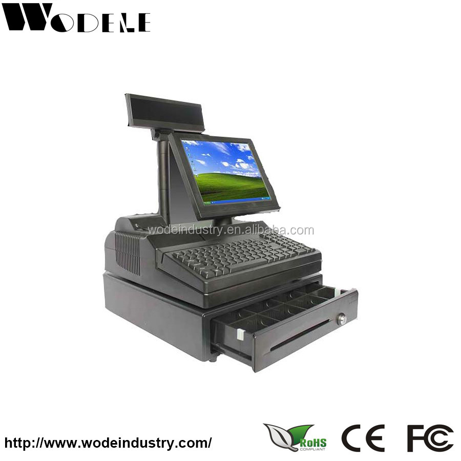 electronic cash register WD-9000E electronic with thermal printer fiscal cash register cash machine cheap supermark