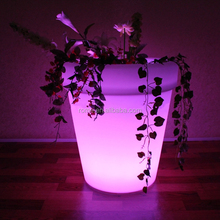 decorative outdoor waterproof light large plastic flower planter pot