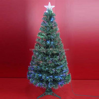 LED Power Green Leaf Fiber Optic Christmas Trees with Top Star